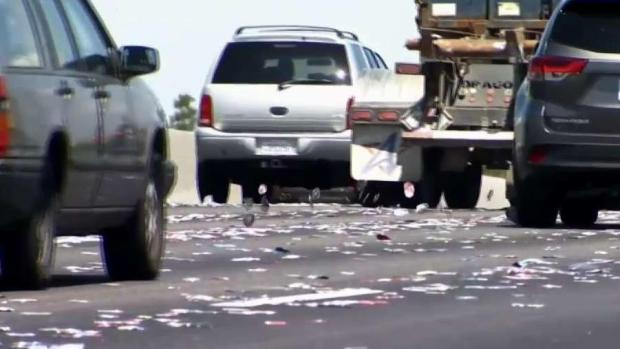 [BAY] Thousands of Cans Litter Interstate 880 in Hayward