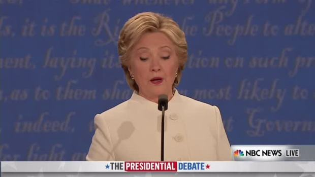 [NATL] Trump and Clinton Debate Gun Control