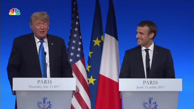 [NATL] 'You Have a Great Leader Now' Trump Talks Up Macron During Joint Presser