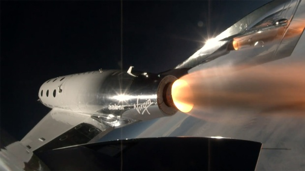 [NATL] Virgin Galactic Spaceship Takes First Powered Flight