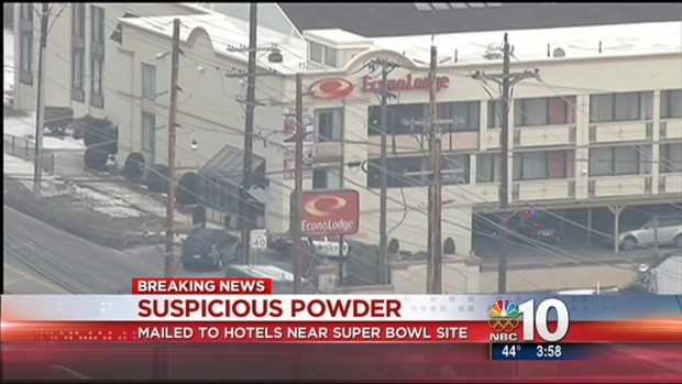 [PHI] Letters Containing Suspicious Powder Sent to Hotels