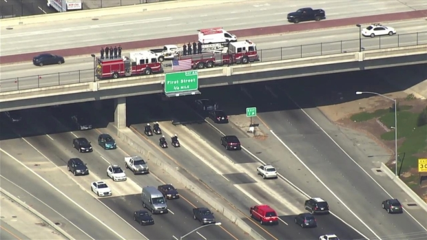 [BAY] Procession Held for Oakland Firefighter