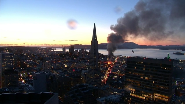 RAW: SF Firefighters Battle Four-Alarm Fire Burning in North Beach