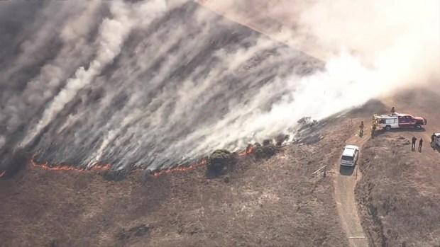 [BAY] RAW: 3-Alarm Fire on San Bruno Mountain in Brisbane