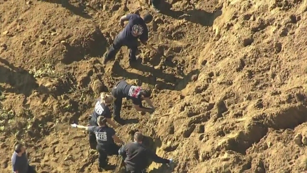 RAW: Crews Work to Rescue Woman Buried After Cliff Collapse at Fort Funston