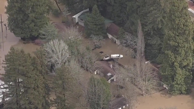 RAW: Flooding Along Russian River Forces Emergency