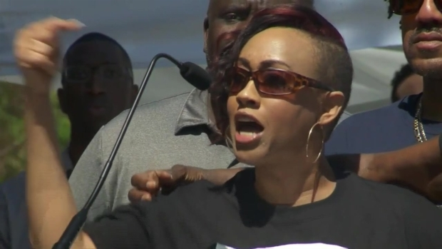 Stephon Clark's Family Member Gives Emotional Speech