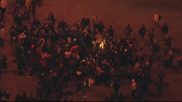 Sky 5: Brawls Break Out in Large Crowds After Trump Cancels Chicago Rally