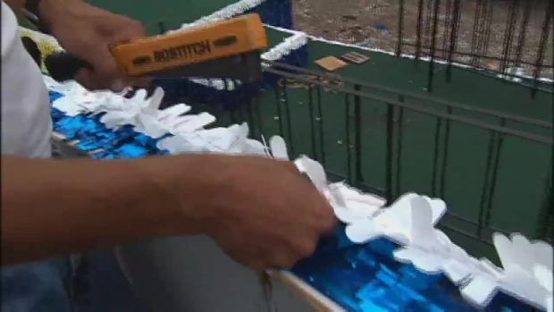 [NATL-NY] Floats Being Built for NYC Parade for World Cup Champs