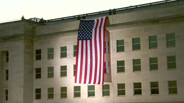 [NATL-DC]  American Flag Unfurled at Pentagon for 9/11 Anniversary