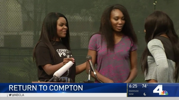 [NATL-LA] Williams Sisters Return to Compton