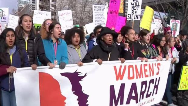 [BAY ML 5A REDELL] Thousands Expected to Flock to Women's Marches Across Bay Area