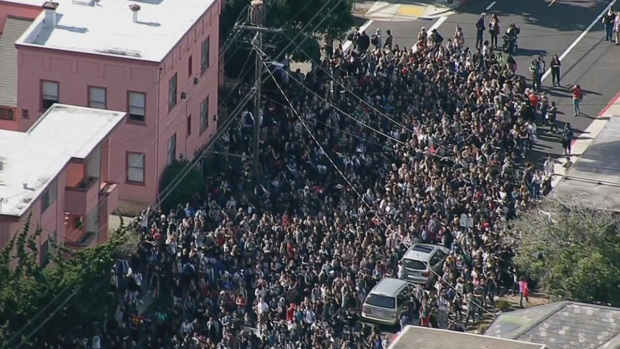 [BAY] 'KKK Forever' Message Prompts Huge Berkeley High Walkout