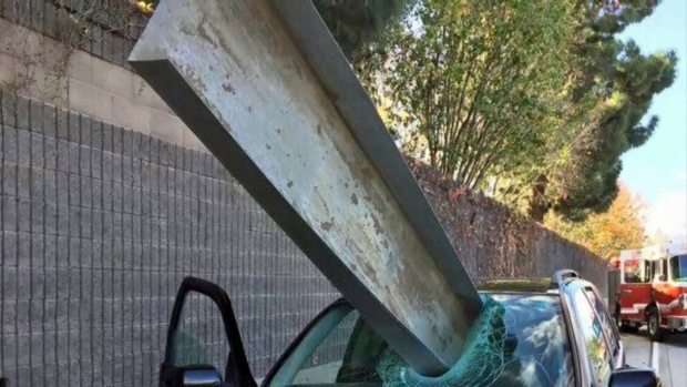 Driver Felt Sense of Calm Before Metal Beam Went Through Windshield