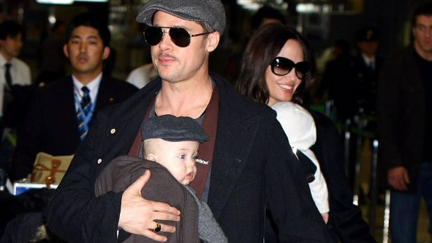 Pitt-Jolie Family Arrives in Japan to Promote Movies
