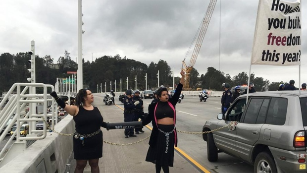 Images From MLK Day Protest on the Bay Bridge