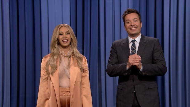 [NATL] 'Tonight': Co-Host Cardi B Tells Jokes In Jimmy Fallon's Monologue