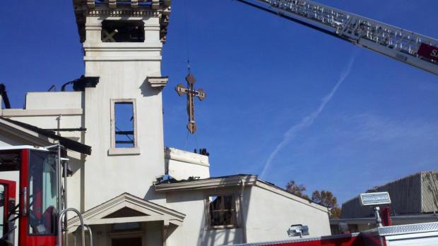 Crews Battle 4 Alarm Fire At San Jose Church Parishioners
