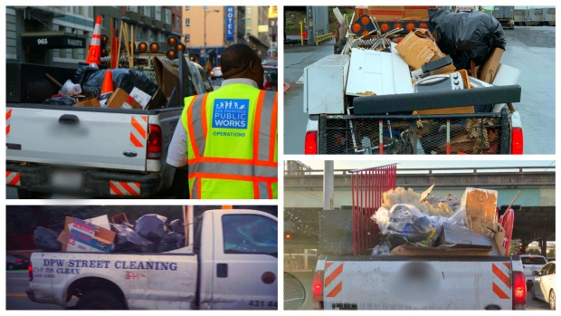 San Francisco's Trash Trucks Overloaded, Unsecured