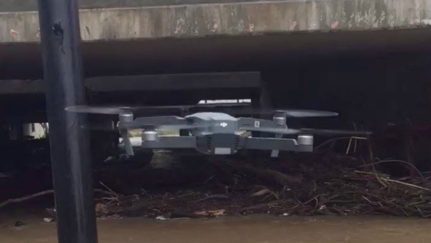 Drones Survey Rising San Francisquito Creek, Which Reached 6th Highest Level in History