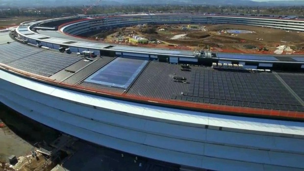 Drone Footage Captures Apple Campus 2