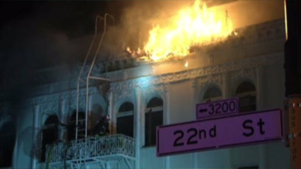 SFFD Battle Building Fire in Mission District