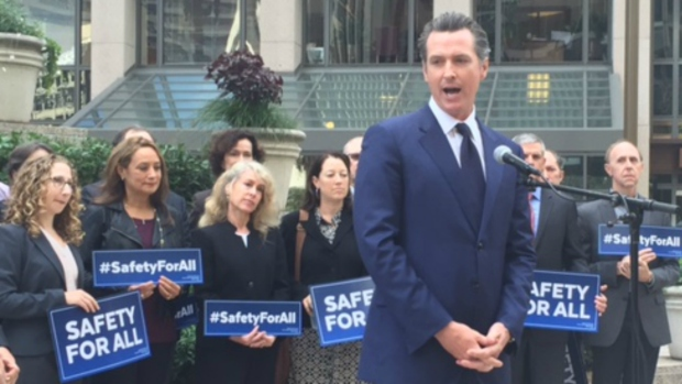 [BAY] Calif. Lt. Gov. Gavin Newsom Proposes Gun Control Ballot Initiative in Wake of Shootings