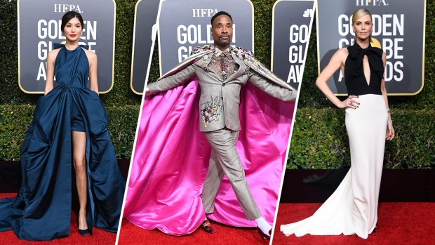 Stars Shine on the 2019 Golden Globes Red Carpet