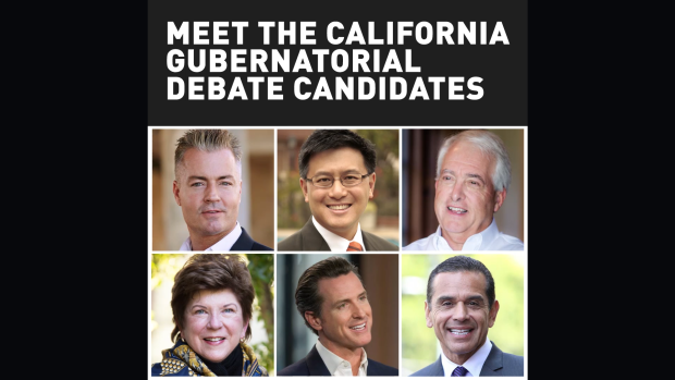 Meet the California Gubernatorial Debate Candidates