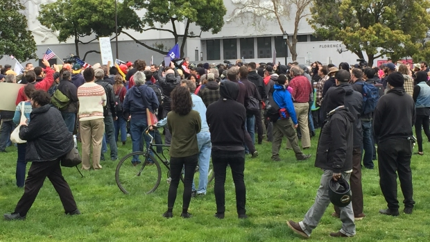 Trump Protesters, Supporters Clash in Berkeley