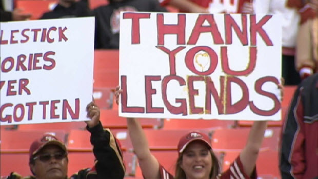 Joe Montana, 49ers Say Goodbye to Candlestick Park