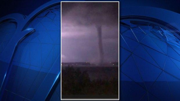 Tornado Visible on Lake Ray Hubbard Sunday