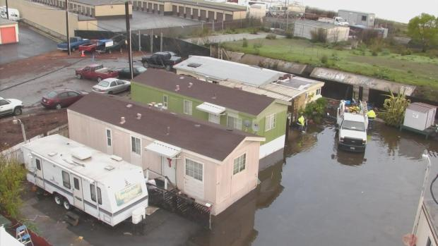 [BAY] Residents Return to Redwood City Mobile Home Park Damaged by Storm