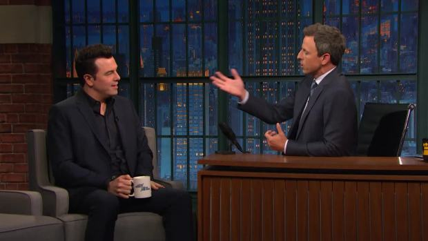 [NATL] 'Late Night': Seth McFarlane Thinks President Trump Is 'Dull'