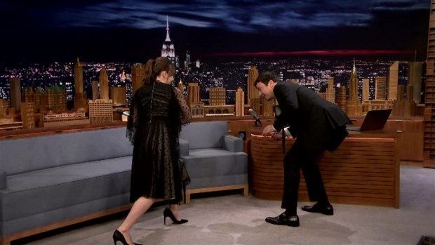 [NATL] 'Tonight Show': Felicity Jones Demos Her 'Star Wars' Fight Moves
