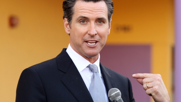 Newsom Moves in With Startups