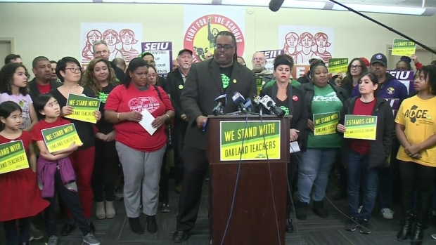 [BAY] RAW: Oakland Teachers Union President Announces Strike