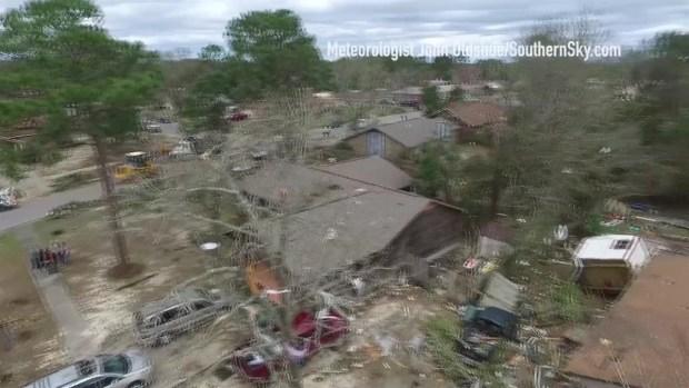 [NATL] WATCH: Drone Footage Shows Pensacola Tornado Damage