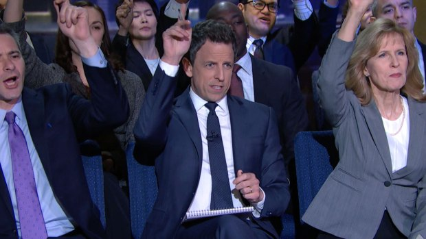 [NATL] Seth Meyers Attends 'Late Night White House Press Briefing'