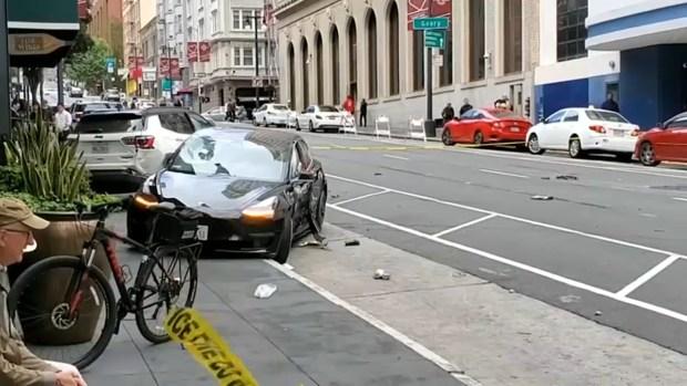 [BAY] 1 Pedestrian Dead, 1 Hurt After Tesla Runs Red Light in SF