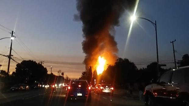 Gas-Fueled Fire Destroys Home, Prompts Evacuations in East San Jose