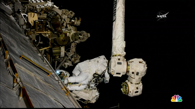 [NATL] NASA Astronauts Repair Robotic Arm on International Space Station