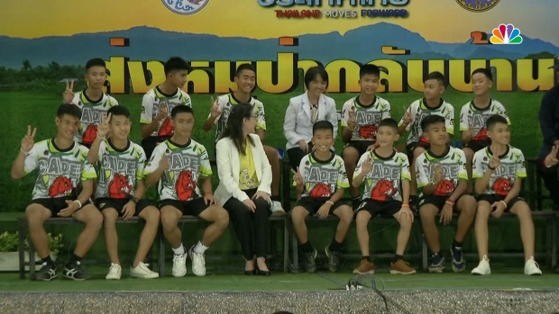 [NATL] Safe at Last: Boys Rescued From Flooded Thai Cave Released From Hospital