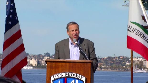 [DGO] Mayor Filner Speaks at Kiss Statue Dedication