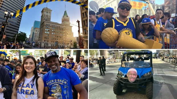 Your Photos From the Warriors' Victory Parade