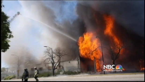 [BAY] Firefighters Investigating Cause of 5-Alarm Fire at Old KNTV Building