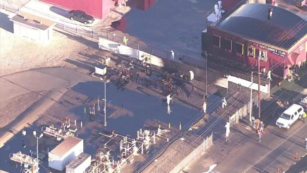 [LA] Aerial Video Shows Spread of Oil Leak Geyser