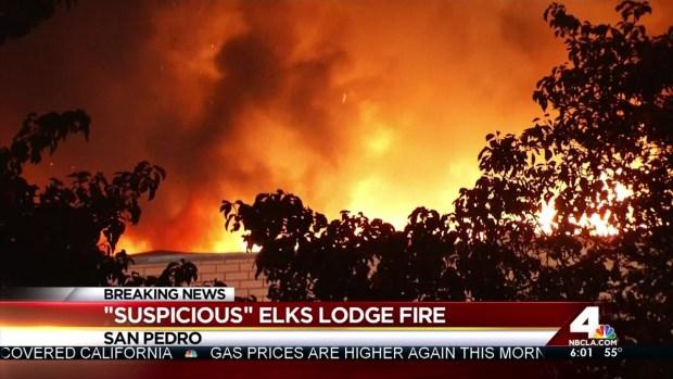 "[LA] ""Suspicious"" Fire at San Pedro Elks Lodge"