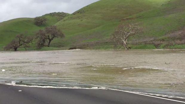 Flooding on Highway 101 Snarls Traffic Near Morgan Hill