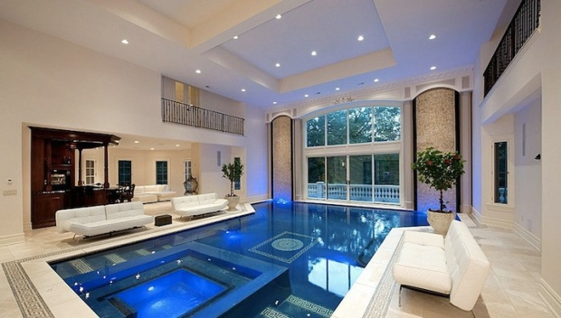 Versailles-Inspired Solar-Powered Mansion Has Pool in Living Room